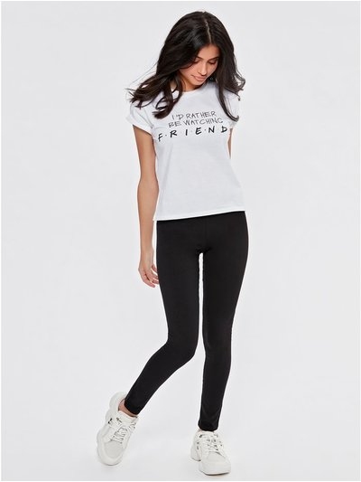 Teen plain black leggings