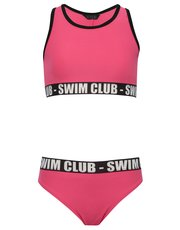 Teens' slogan trim bikini