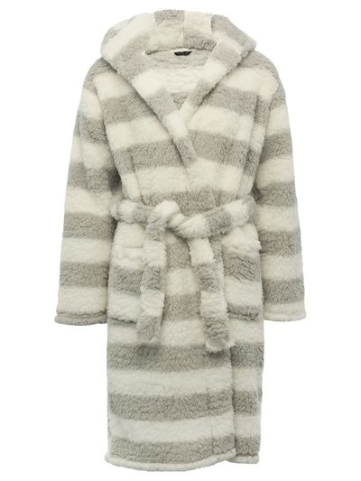 Teen striped fleece dressing gown