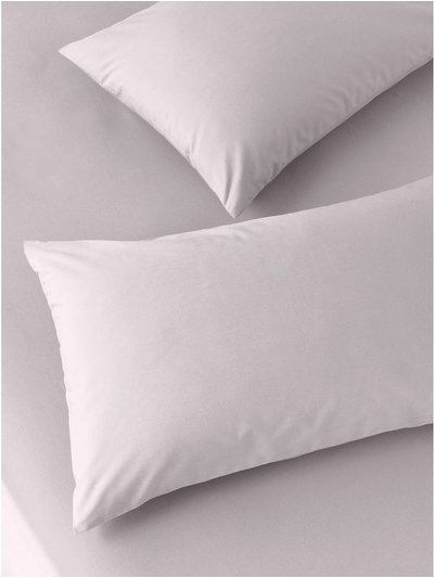 Cotton rich lilac pillowcases two pack
