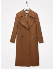 Sonder Studio wool zip biker coat
