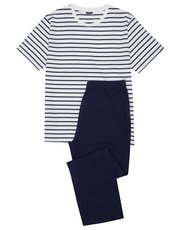 Breton striped t-shirt pyjama set