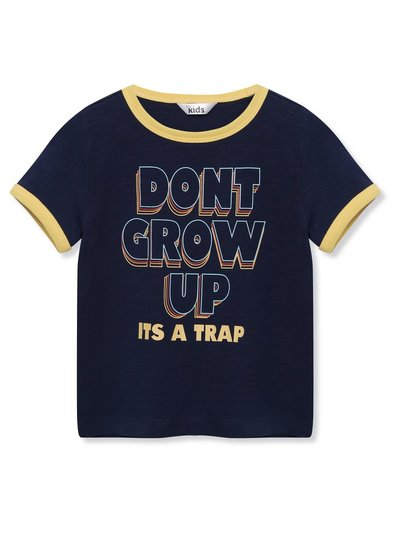 Don't grow up slogan t-shirt (9mths-5yrs)