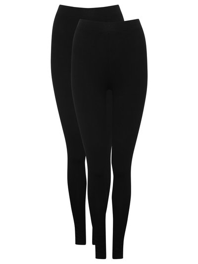 Plain leggings two pack