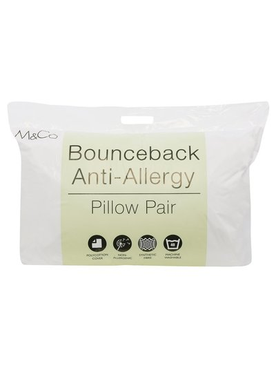 Bounceback soft support anti allergy pillows