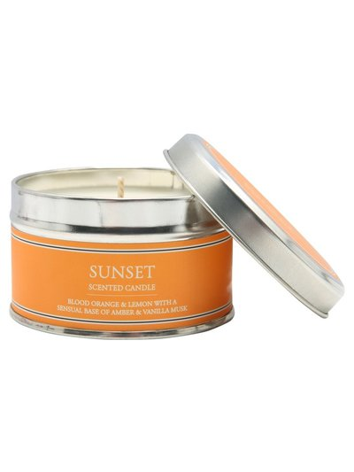Sunset scented tin candle