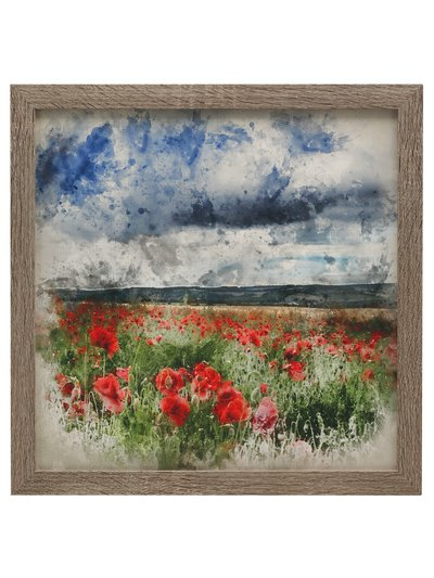Poppies framed canvas print