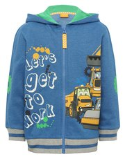 JCB hooded zip through sweater
