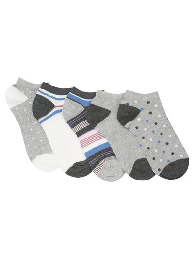 Spot and stripe trainer socks five pair pack