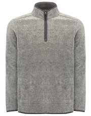 Chunky zip neck fleece