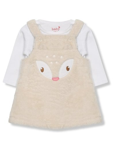 Reindeer dress and bodysuit Christmas set (Newborn-18mths)
