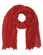 Pleat textured scarf