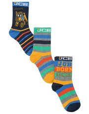 JCB ankle socks three pack