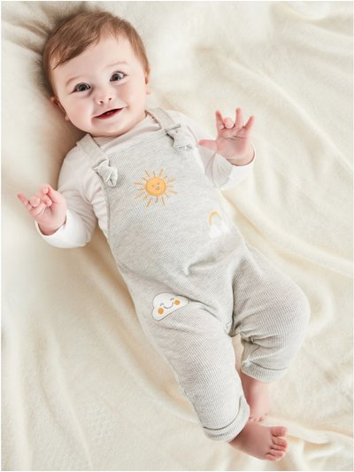 Sun print dungaree and top set (Tinybaby-12mths)