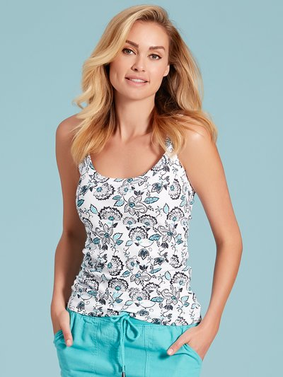 Floral thick strap cami top