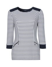 Roman Originals textured stripe top