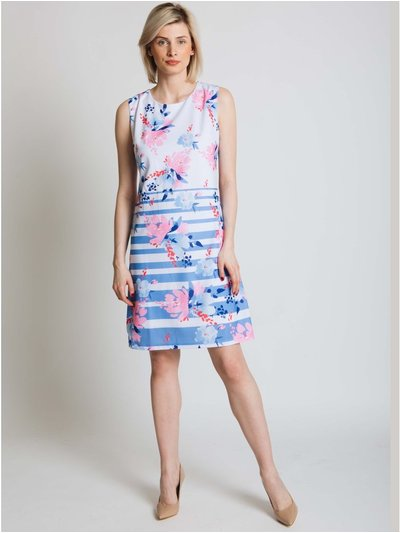 Jessica Graaf stripe and floral print dress