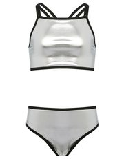 Teens' silver cross back bikini
