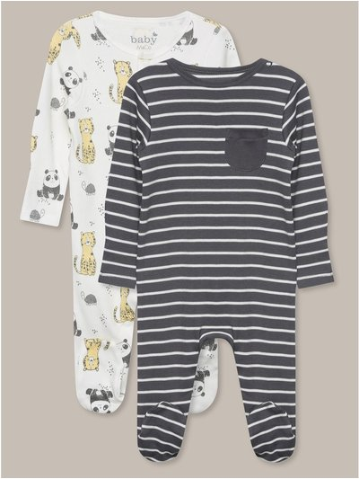 Panda Sleepsuits Two Pack (Tinybaby-18mths)