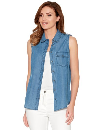 Lightweight denim sleeveless shirt