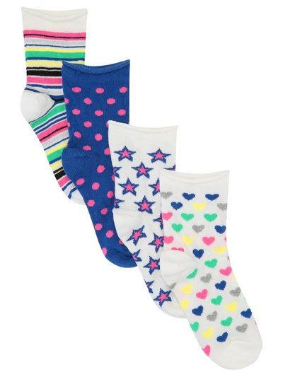 Multi patterned socks four pack