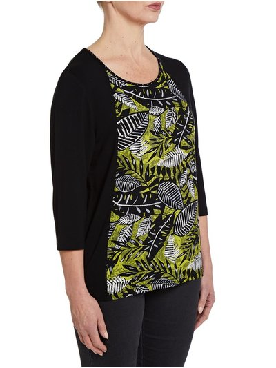 TIGI tropical print top