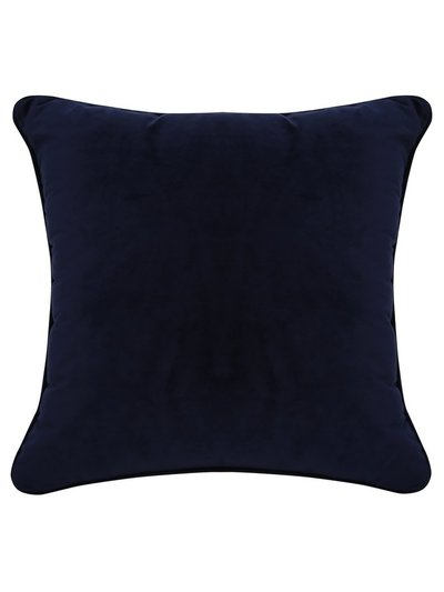 Royal blue velour cushion