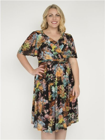 J by Jolie Moi printed fit and flare dress