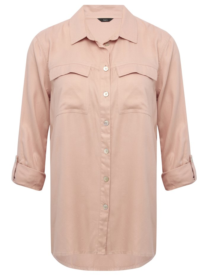 Pocket front twill shirt