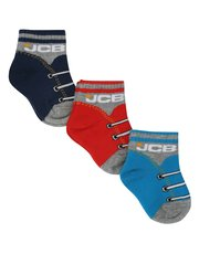JCB shoe lace socks three pack