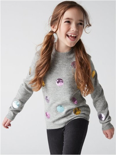Sequin spot jumper (3-12yrs)