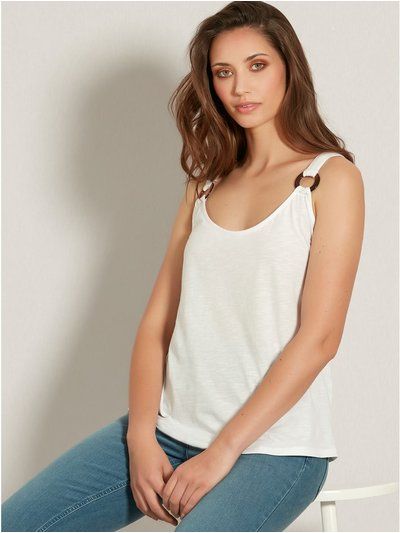 Ring strap cami top