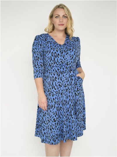 J by Jolie Moi revere collar midi dress