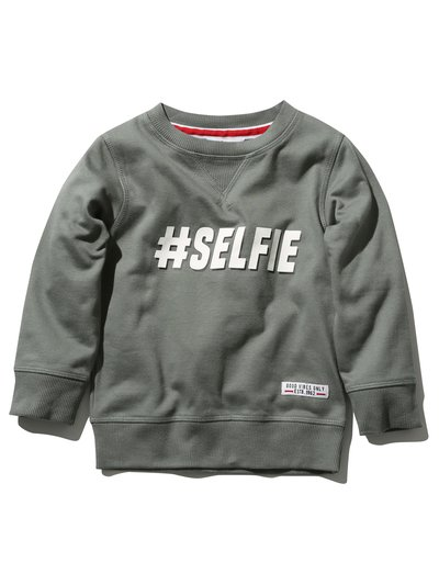 #Selfie slogan sweat top