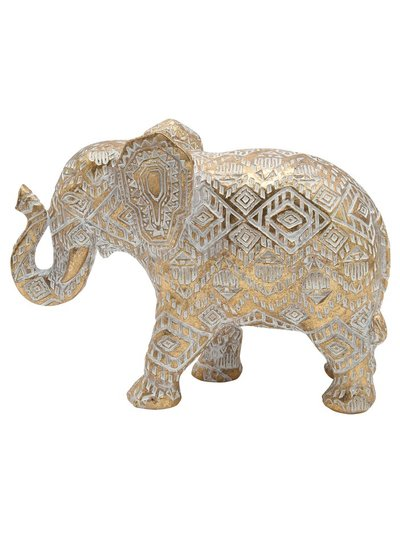 Textured elephant ornament