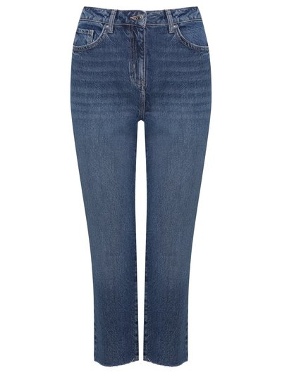 Petite straight leg cropped jeans