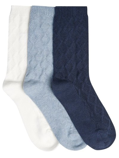 Cable knit socks three pack