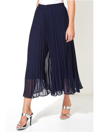 Roman Originals chiffon overlay pleated culottes