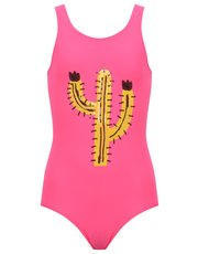 Teens' sequin cactus swimsuit