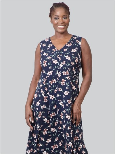 Izabel Curve floral print a-line midi dress