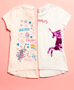 girls' unicorn clothing collection
