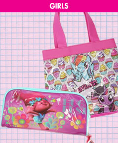 Shop girls' stationery and bags