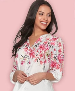 Shop petite blouses and shirts